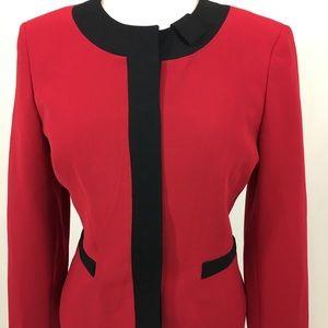 Kasper red designer blazer